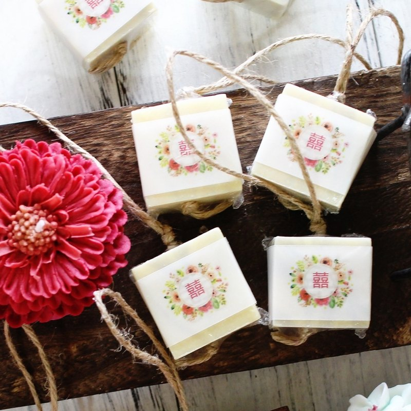 [Lei An Bai handmade soap] favorite hand soap - single soap 10 into. Wedding small things │ washing soap string │ natural handmade soap │ corporate gifts │ activities small objects