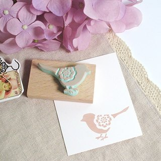 Apu hand-rubber chapter lace bird stamp