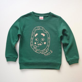 Hyottoko Kids Sweatshirt IvyGreen