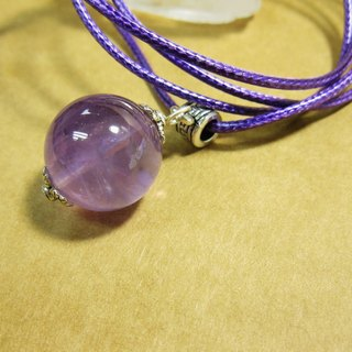 muso: amethyst pendant + Rope, can be used pendulum divination, genuine crystal Purple Sweetie