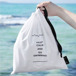 Travel time swimming bunch mouth storage bag V2- leisure white, TNL84628