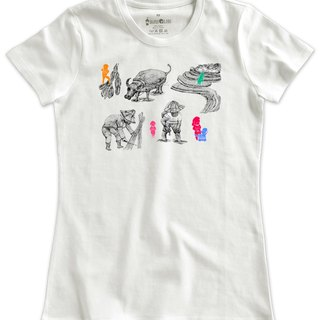 Classic white short-sleeved T-shirt _Rice (Female M out of stock)
