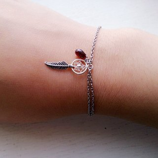 Dream catcher, Garnet,  Bracelet