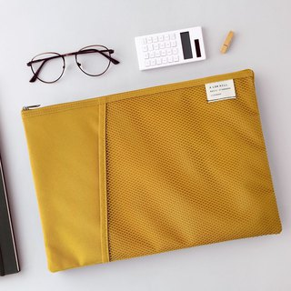 Livework casual wind double fold file bag V2- mustard yellow, LWK56399