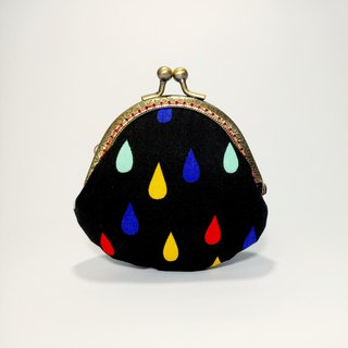 [color water drops] mouth gold bag purse clutch bag Christmas exchange gift new year gift
