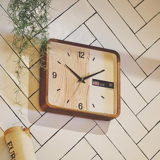 Weekend- Rounded Rectangular Week/Date Clock Wall Clock