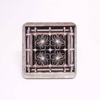 Old iron window [Taiwan impression square coaster]