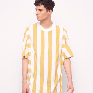 Stone@s Printed T-shirts In Yellow / Mustard Yellow Stripe Tee