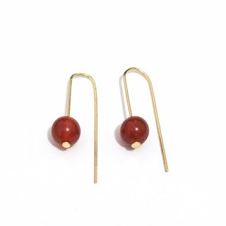 Simple & Chic Agate Earrings in Red