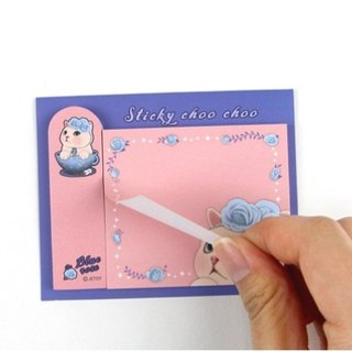 JETOY, sweet cat self adhesive sticky book _Blue rose J1711306