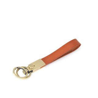 [DOZI leather hand made] double ring leather key ring leather can be freely selected