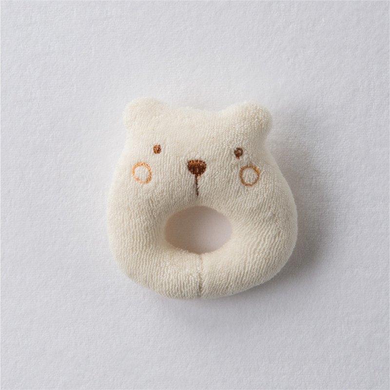 【Amorosa Mamma有機棉】嬰兒搖鈴(米白熊)