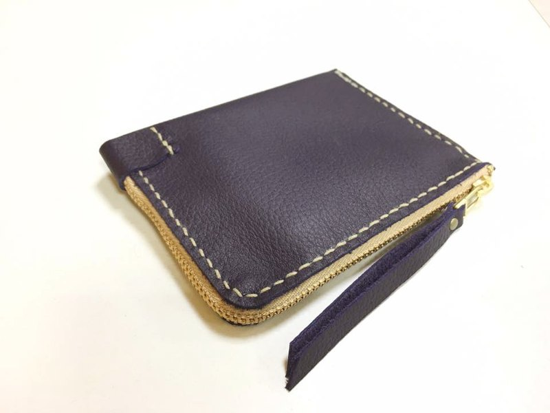 <New color debut> Convenience banknote purse - Purple Butterfly curd