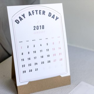 2018 DAY AFTER DAY day after day card-type calendar