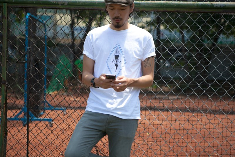 Deerhorn design / 鹿角 all seeing eye T-shirt