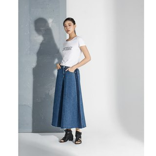 【In stock】 Denim wide-leg pants