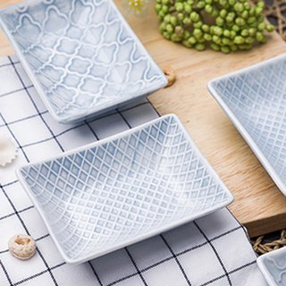 [JOYYE ceramic tableware] geometric life relief seasoning dish (a set of 2)