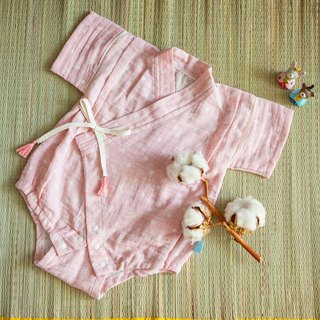 Hand made strawberry milk marshmallow organic cotton double yarn flat peace suit bag fart