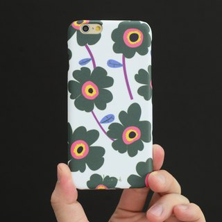 iphone case green flower pattern for iphone5s,6s,6s plus, 7,7+, 8, 8+,iphone x