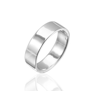 Simple plain sterling silver finger ring -8mm plane cessation