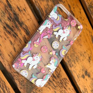 可愛獨角馬 Unicorn 流動閃粉手機殼多種顏色選擇-只適用於 iPhone 8, iPhone 8 Plus, iPhone 7 Plus, iPhone 7, iPhone 6/6S Plus, iPhone 6/6S