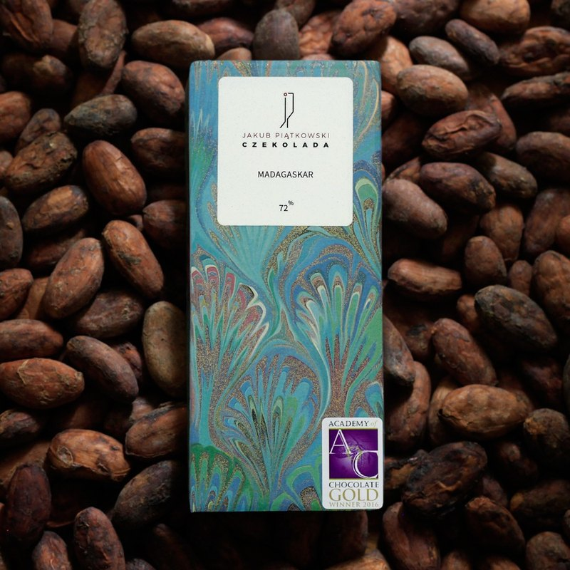 JAKUB PIATKOWSKI CZEKOLADA Madagascar Bean To Bar Dark Chocolate 72%