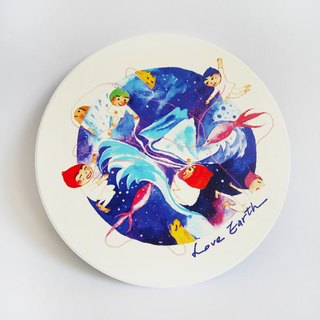 Love earth | love earth | ceramic absorbent coaster coaster