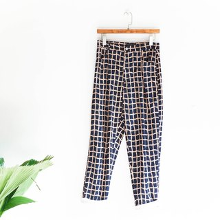 River Hill - Deep Blue x gold chain totem full version love antique ab cotton wide pants straight vintage denim pants vintage