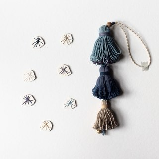 Sea coral: Skains to Tassels Bag Charm