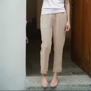 Light and nothing Rêveur | Sakura is particularly good to wear satin linen stitching elastic waist pants