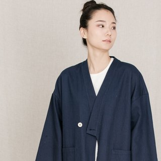 BUFU unisex oversized zen-style coat in navy O161017