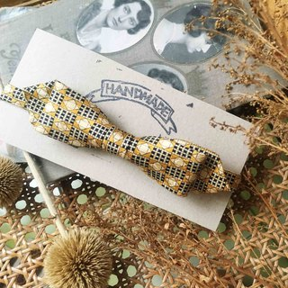 Papa's Bow Tie- Antique Cloth Tie Tie Handmade Bow Tie - Huang Feihong - Narrow Edition