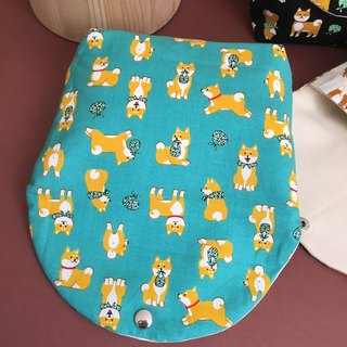 Away from home Baby Shiba Inu green cosmetic bag cute camera bag