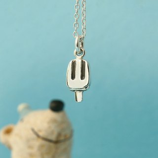 My Sweetie hand-made sterling silver necklace / lovely dessert series - Popsicle (Zhizi Bing) / Suitable clavicle chain / handmade sliver necklace / choker popsicle