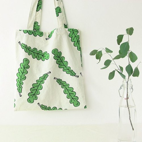 Livework-Forest cotton shoulder bag - leaves, LWK36746