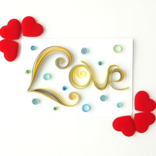 Hand made decorative cards- love
