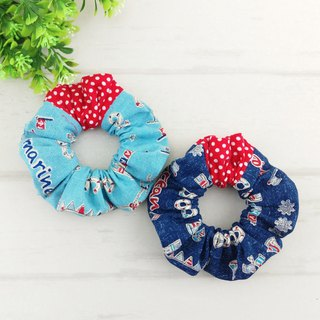 Tannin Navy Style-2 color is optional. Handmade donut hair bundle / large intestine ring
