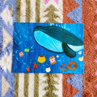 [Animal] Series - Blue Whale_postcard_card