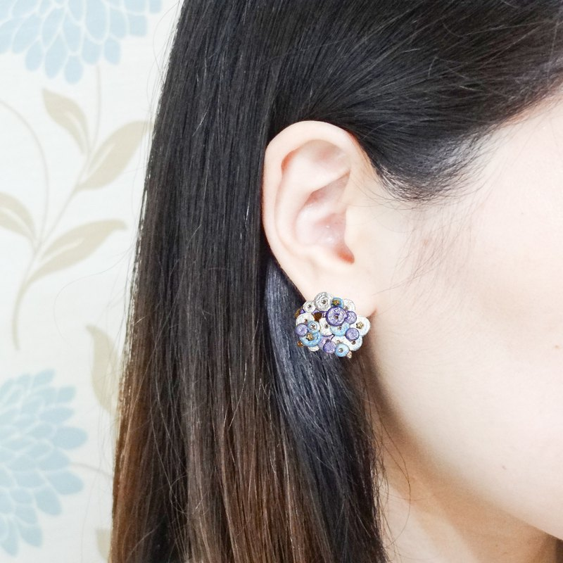 珐琅 Series Marshmallow sheep earrings Pre-order