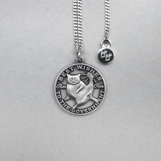 """BEST WISHES TO THE GOVERNMENT"" die cut coin necklace"