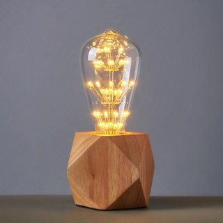 Good Form‧ Good Shape │ Vintage Wood Table Lamps ‧ Multi-cut ‧ Diamond Fireworks Table Lamp