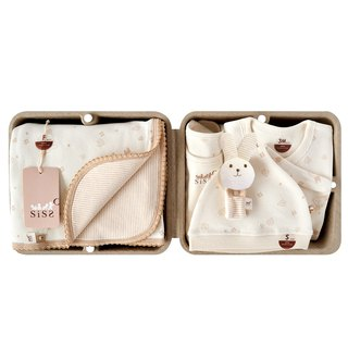 [SISSO Organic Cotton] Small Leaf Fluttering Classic Warm Heart Gift Box (Wrist Rabbit) 3M 6M