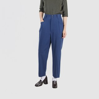 [Egg plant ancient] lake water wave wool high waist old antique pants
