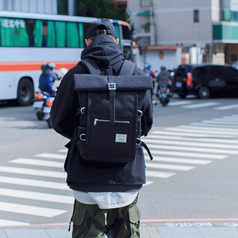 【換季特賣】工裝防水後背包 Ranger 防水後背包 15吋筆電 全黑款