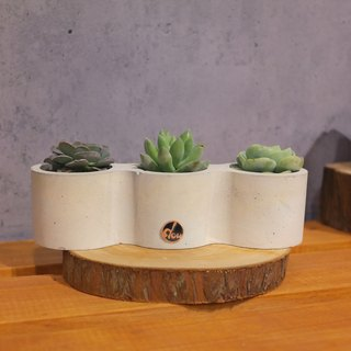 Peas handmade clay pot - gray tone series - Sanpen friends