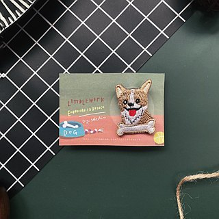 Littdlework Small Animal Pin Badge | Corkey