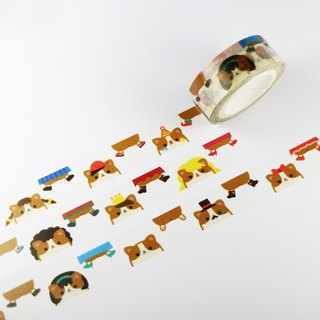 Small Corgi transvestites party paper tape
