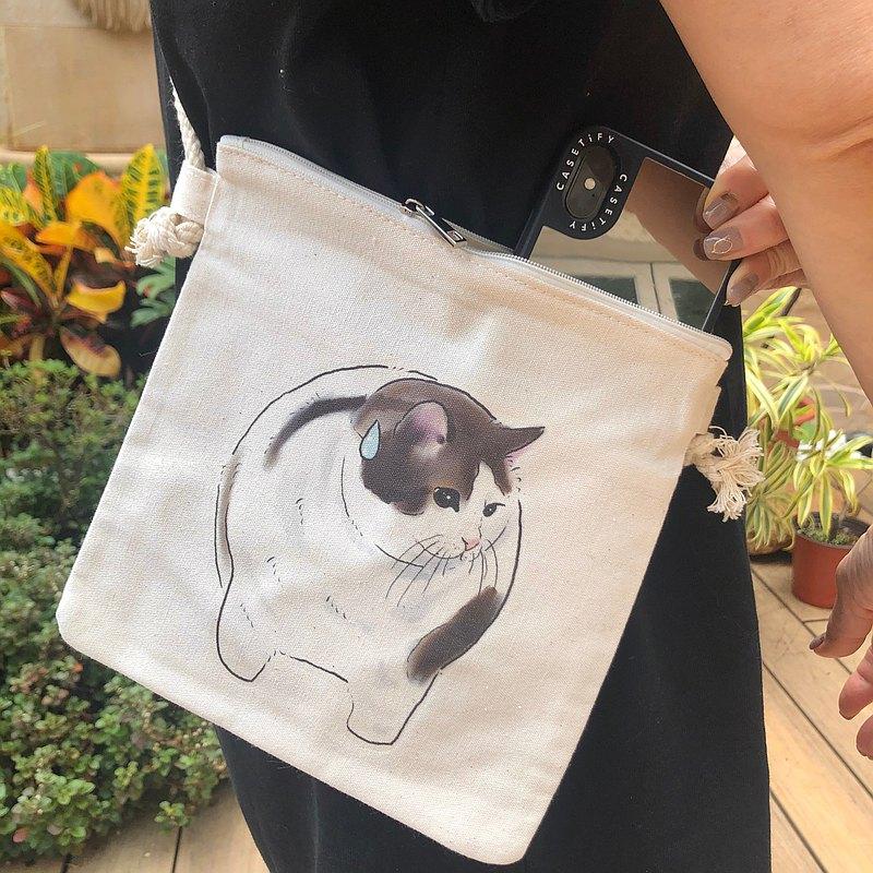 肥貓斜背包
