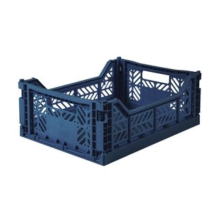 Turkey Aykasa Folding Storage Basket (M) - Navy Blue