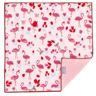 【IMA】WAFUKA Japan made Absorben, Soft, Cute & Unique Handkerchief - Framingo